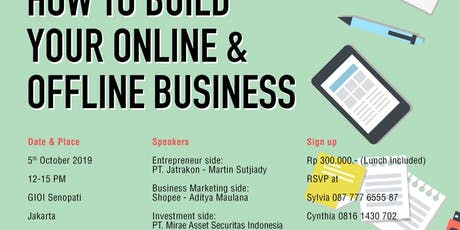 How to Build your Offline and Online Business tickets