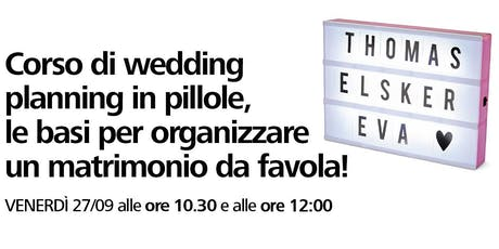 Corso di wedding planning in pillole con Flying Tiger Copenhagen biglietti