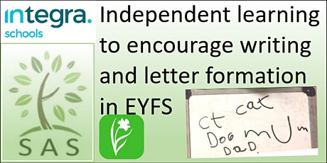 EYFS - Encouraging Independent Writing and Letter Formation  tickets