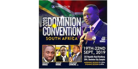Dominion Convention South Africa tickets
