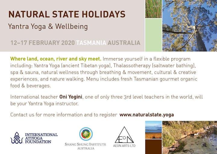 Natural State Holiday- Yantra Yoga & Wellbeing, Tasmania