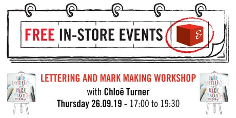 Lettering and Mark Making Workshop tickets