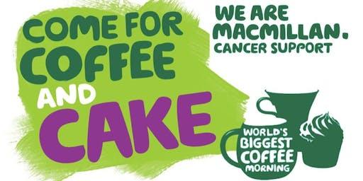 Macmillan Coffee Morning and Book Sale