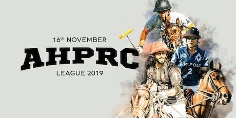 AHPRC League November 2019 tickets
