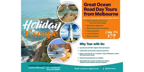 Great Ocean Road Day Tour (Optional Indian Lunch) tickets