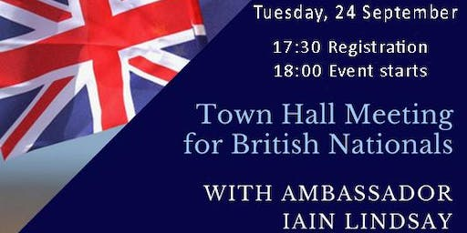 Town Hall Meeting for British Nationals