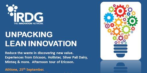 IRDG Unpacking Lean Innovation