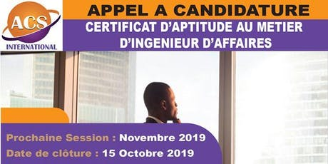 CERTIFICAT D'APTITUDE AU MÉTIER D'INGÉNIEUR D'AFFAIRES billets