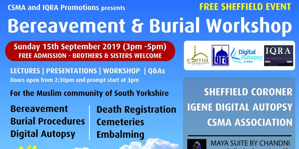 Bereavement & Burial Workshop (Sheffield) Tickets, Sun 15
