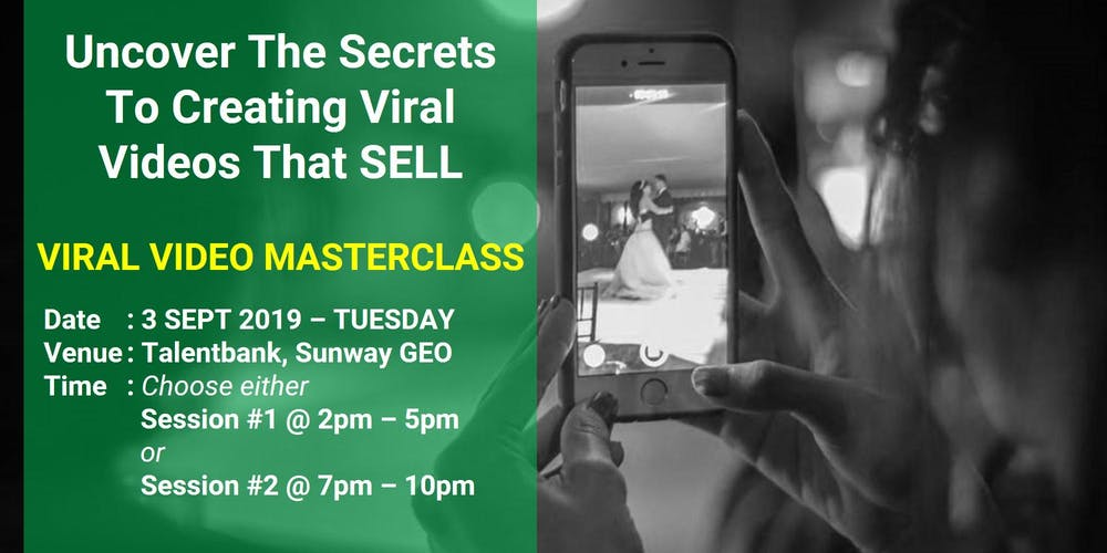 VIRAL Video Masterclass for BUSINESS OWNERS Tickets, Tue
