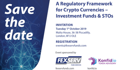 A Regulatory Framework for Crypto Currencies - Investment Funds & STOs tickets