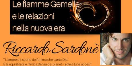 RICCARDO SARDONÈ - Le fiamme Gemelle e le relazioni nella nuova era (seminario) biglietti