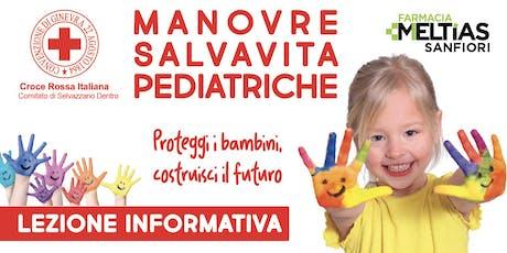 Manovre salvavita pediatriche e sonno sicuro biglietti