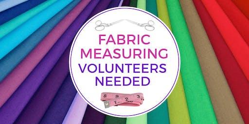 Stitch Buffalo—Volunteer Night for Fabric Measuring