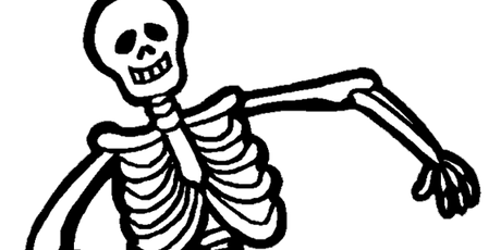 Sparks! Half Term Fun - Spooky games and making a skeleton tickets