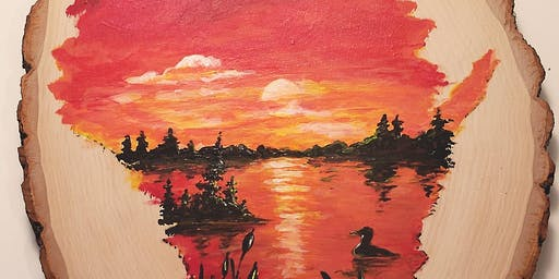 Wisconsin Sunset Wood Round