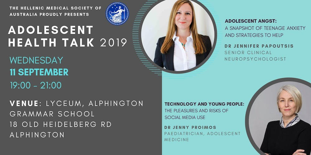 Adolescent Health Talk 2019 Tickets, Wed 11/09/2019 at 7:00