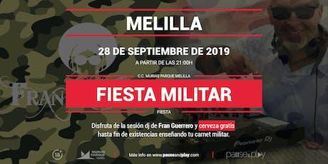 Fiesta Militar con dj Fran Guerrero en Pause&Play Melilla entradas