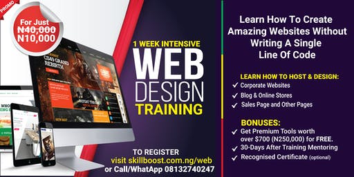 LAGOS WEB DESIGN TRAINING (+ TOOLS WORTH N260,000 FOR FREE) FEE: 5K