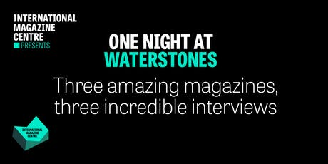 One Night at Waterstones tickets