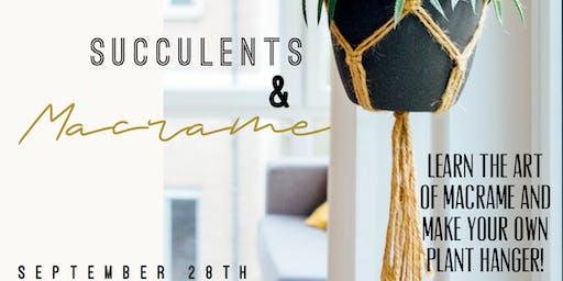 Succulents & Macrame
