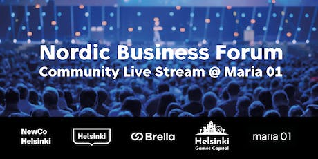 Nordic Business Forum Community Live Stream @ Maria 01 tickets