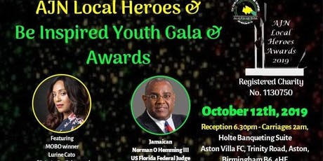 AJN Local Heroes and Be Inspired Youth GALA & AWARDS 2019 tickets