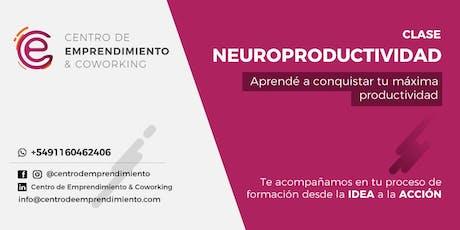 Neuroproductividad entradas