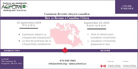 How to become a Canadian Citizen / Comment devenir citoyen canadien tickets
