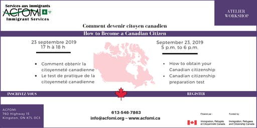 How to become a Canadian Citizen / Comment devenir citoyen canadien