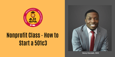 Nonprofit Class - How to Start a 501(c)(3) tickets
