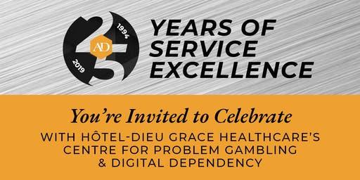 25th Anniversary-CPGDD (formerly Problem Gambling Services)