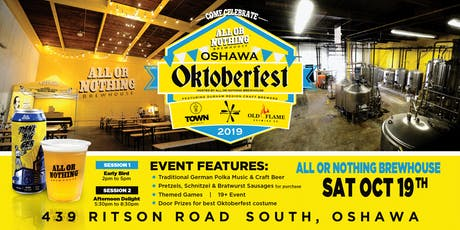 Oshawa Oktoberfest @ All or Nothing Brewhouse tickets