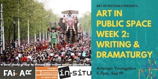 CREATE in Public Space: Toronto Session #2 - Writing & Dramaturgy