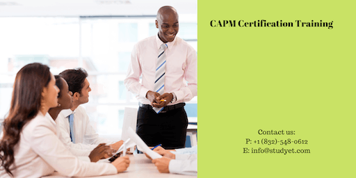 CAPM Online Classroom Training in College Station, TX