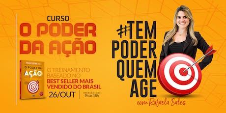 Curso O Poder da Ação com Rafaela Sales bilhetes