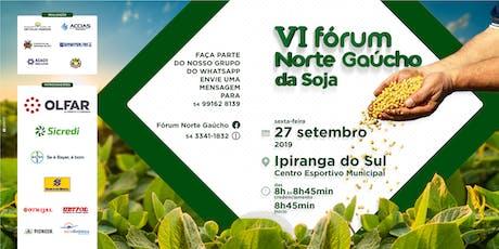 VI Fórum Norte Gaúcho da Soja ingressos