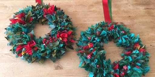 Make a Festive Rag Wreath