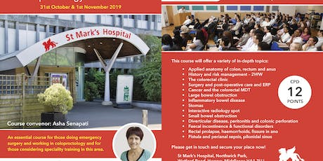 Emergency & Elective Basic Coloproctology Course Oct 2019 tickets