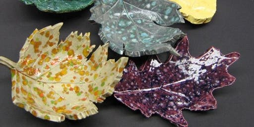 """Ally"" Art Class- Ceramic Leaves"