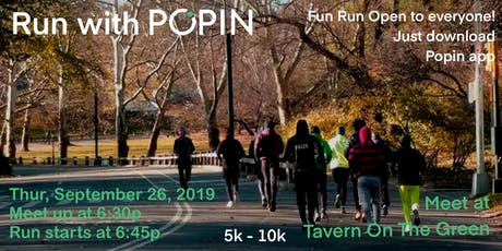 Run With Popin in Central Park 5k or 10k tickets
