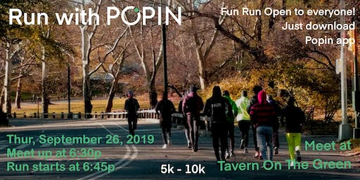 Run With Popin in Central Park 5k or 10k
