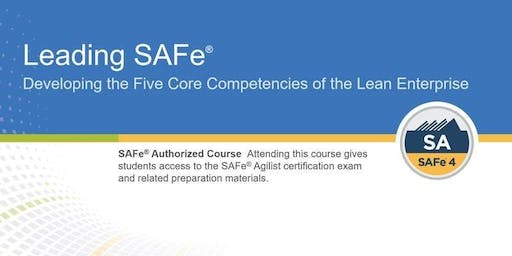Leading SAFe (SA) 4.6 with Certification [weekend class]