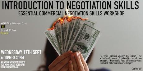 Introduction to Negotiation Skills - Essential Negotiation Skills Workshop tickets