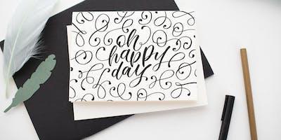 Hand & Brush Lettering Workshop für Fortgeschrittene