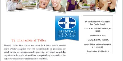 Taller de Mental Health First Aid