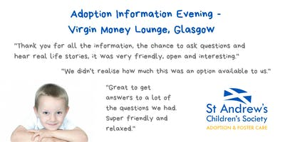 Adoption Information Evening, Virgin Money Lounge, Glasgow