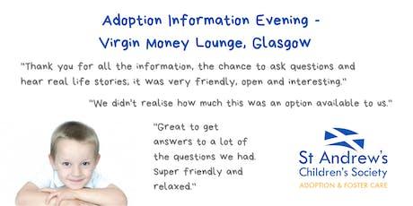 Adoption Information Evening, Virgin Money Lounge, Glasgow tickets