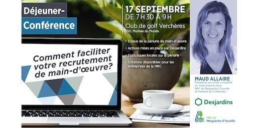 Déjeuner-Conférence: Comment faciliter votre recrutement de main-d'œuvre ?