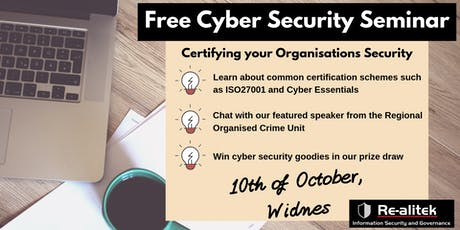 Cyber threats - Certifying your organisation's security tickets